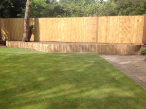 Border, Fencing and slab patio by Karl Welham