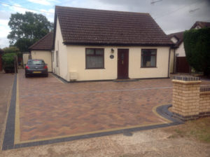 Herringbone Drive with Border and Brickwork