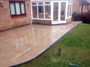 Patio and slab laying - landscaping