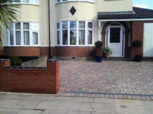 Brickwork, Driveway and drainage grate