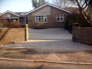 Curved Border Driveway
