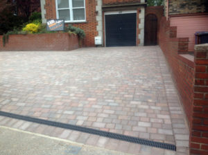 Block Paving Driveway with Drainage Grate