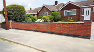 Duo-Coloured Brickwall. Brick laying services by Karl Welham