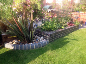 Garden Wall and Feature Border